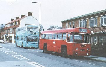 RF314 outside Leatherhead garage