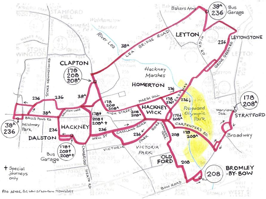 The Future - North east london bus map